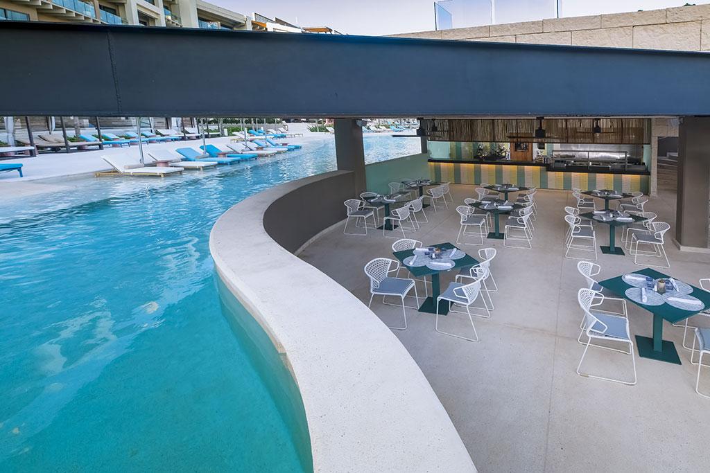 ESTUDIO PLAYA MUJERES   ESPM Bikini Azul PoolSide Restaurant 3