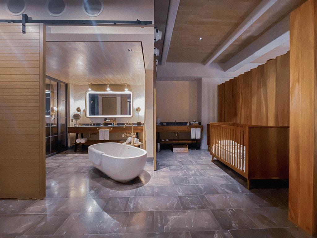 ESTUDIO PLAYA MUJERES   INSPIRA BabySuite Bathroom